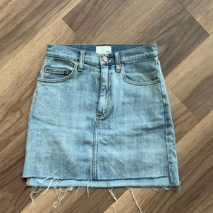 Wilfred Free mini denim skirt
